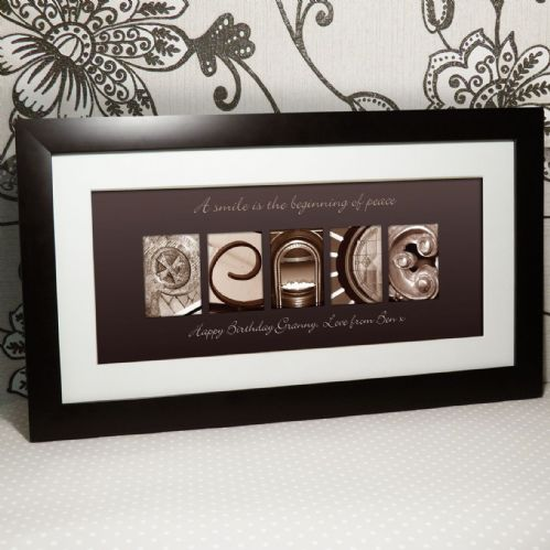 Personalised Affection Art Peace Large Frame